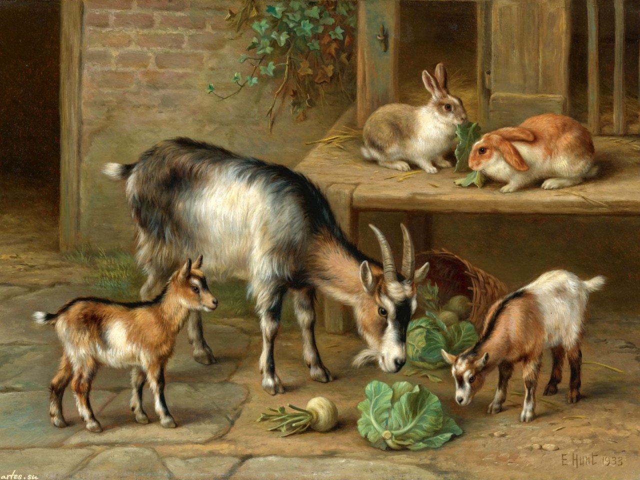 то, коза с козлятами веретенникова картинки рацион