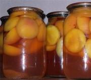Натуральные консервированные персики половинками без сахара
