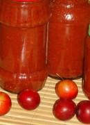 Острый соус из алычи на зиму