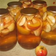 Домашний компот из яблок