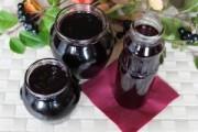 Быстрое варенье из черноплодной рябины на зиму