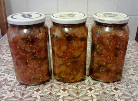 фото рецепт баклажановой икры консервированой