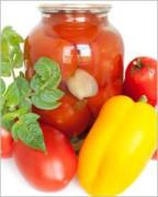 Консервированные помидоры с перцем болгарским