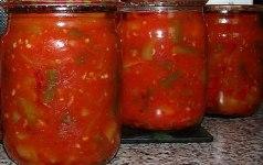 Рецепты заготовок овощей с помидорами