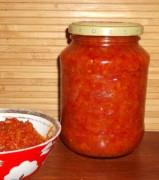 Домашняя икра из помидоров и лука