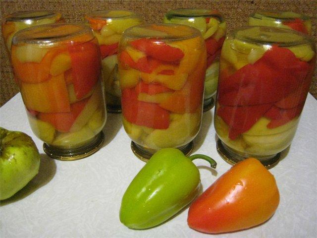 маринованный перец с яблоками рецепт с фото