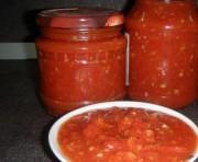 Вкусная острая приправа из помидор и перца