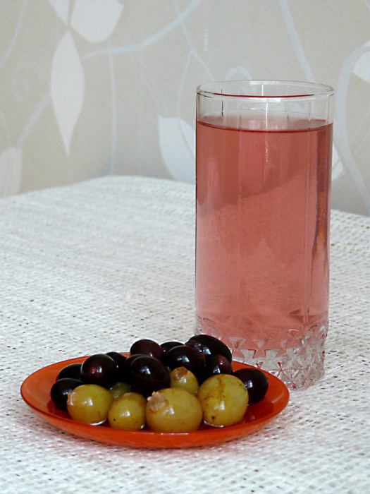 Фото. Домашний компот из винограда без стерилизации.