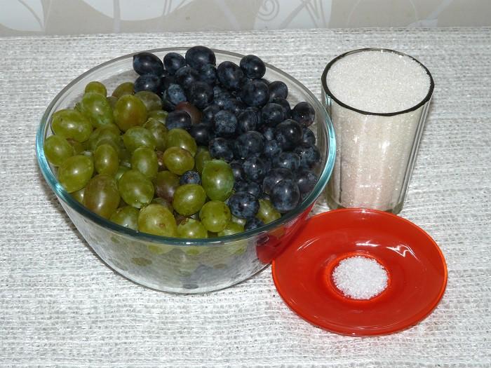 Как приготовить компот из винограда на зиму.