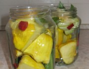Вкусный салат из патиссонов на зиму