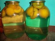 Компот из персиков без косточек, половинками