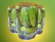 Рецепт маринованных огурцов в литровых банках