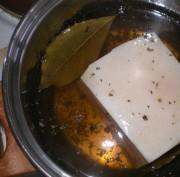 Соленое сало в меду
