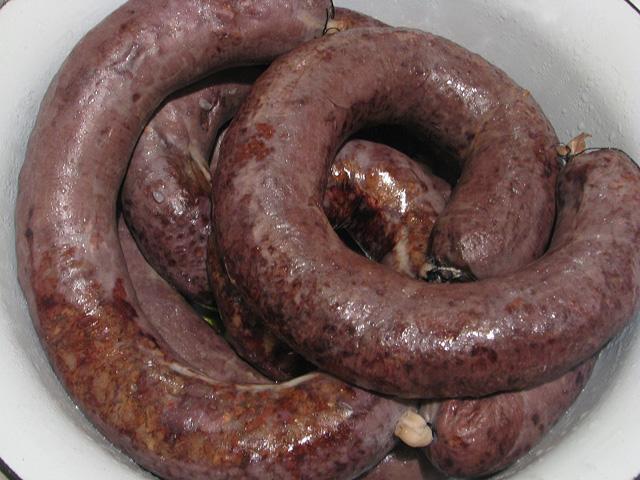рецепт запеченной кровяной колбасы в домашних условиях с фото