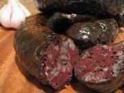 Домашняя кровяная колбаса с гречкой