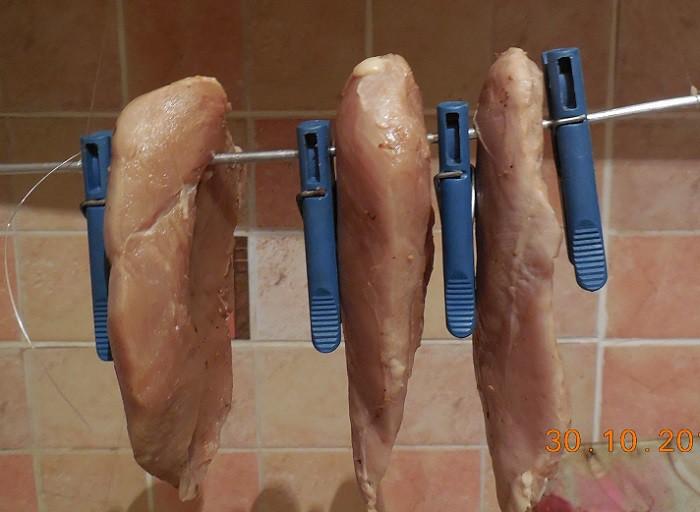Домашняя вяленая курная грудка