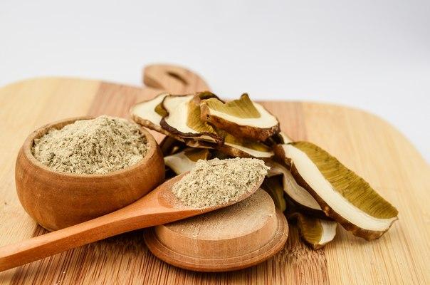 как приготовить порошок из грибов