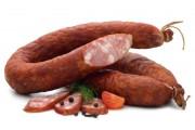 Домашняя копченая свино-говяжья колбаса