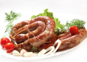 Домашняя украинская колбаса жареная в духовке