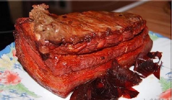 Варить сало в луковой шелухе рецепт