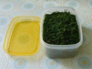 заморозка зелени укропа в пакетах и контейнерах