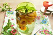 Компот из абрикосов с мятой на зиму без стерилизации