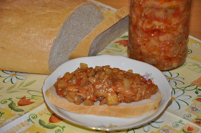 Салат из баклажан с пошаговым фото