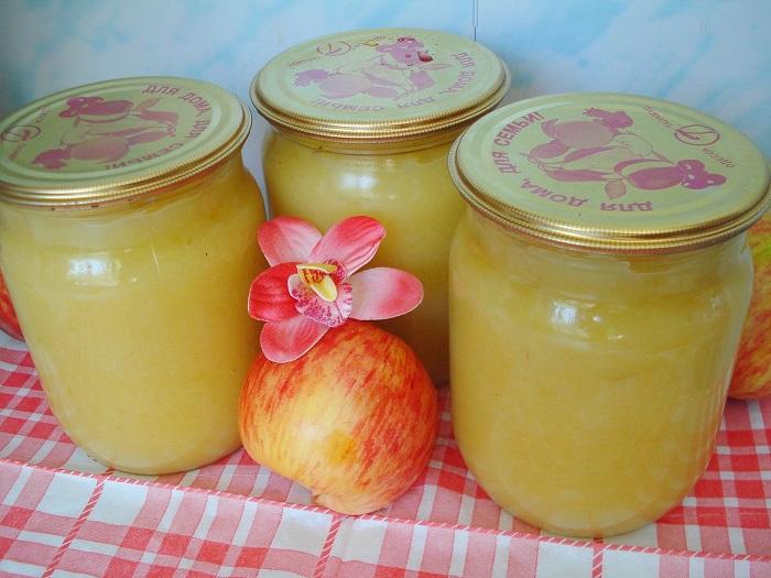 пюре из яблок на зиму рецепты без стерилизации того, что