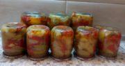 Салат десятка из баклажан с яблоками