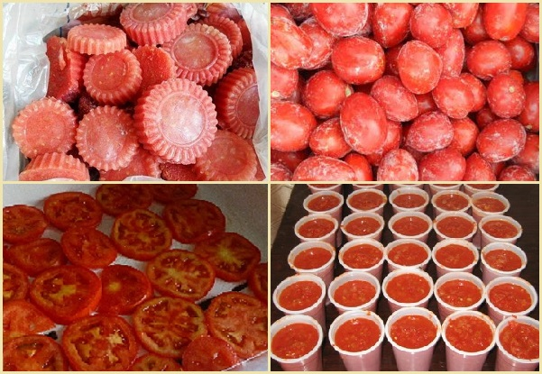Основные способы заморозки помидор