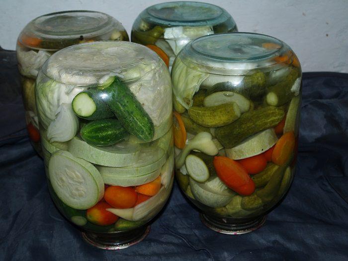 Маринованное овощное ассорти на зиму