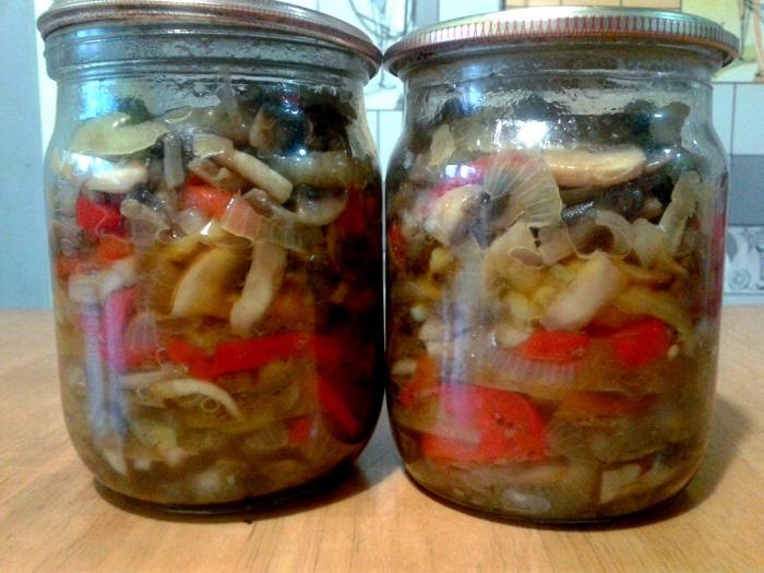 грибной салат рецепты на зиму