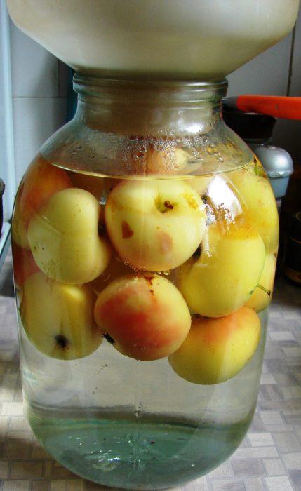 Компот из яблок в банках без стерилизации