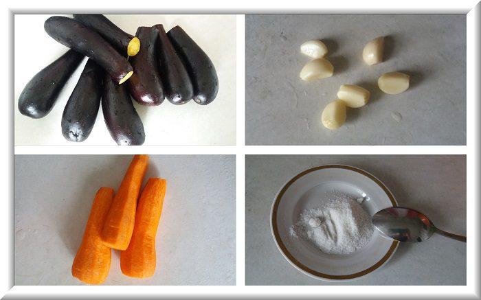Квашеные баклажаны фаршированные морковью и чесноком