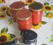 Красный острый соус из помидоров