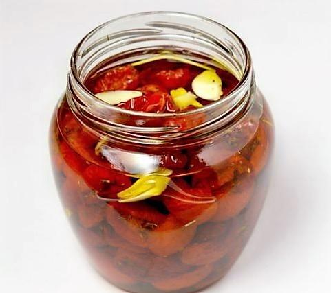 хранение сушёных помидоров