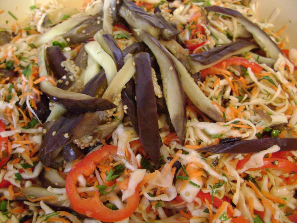 блюда из капусты и баклажанов