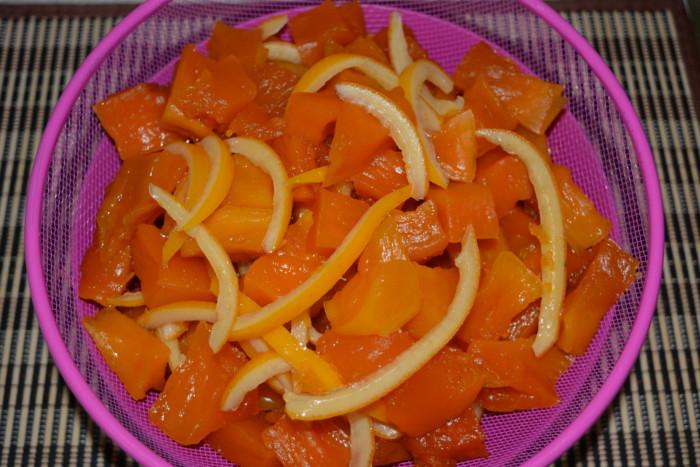 Цукаты из тыквы с апельсиновыми корками