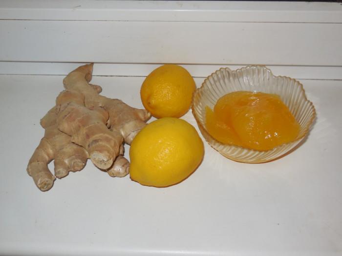 Имбирь с лимоном и медом для похудения и от простуды