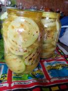 Жареные кабачки с чесноком в пряном маринаде