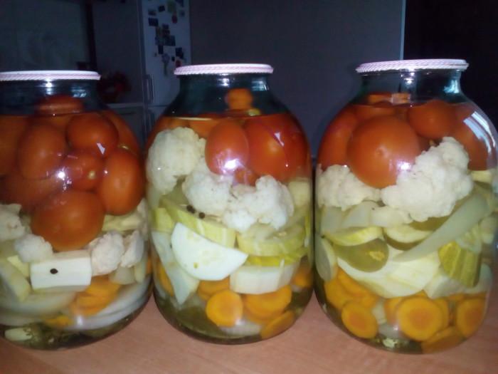 Овощное ассорти маринованное на зиму без стерилизации