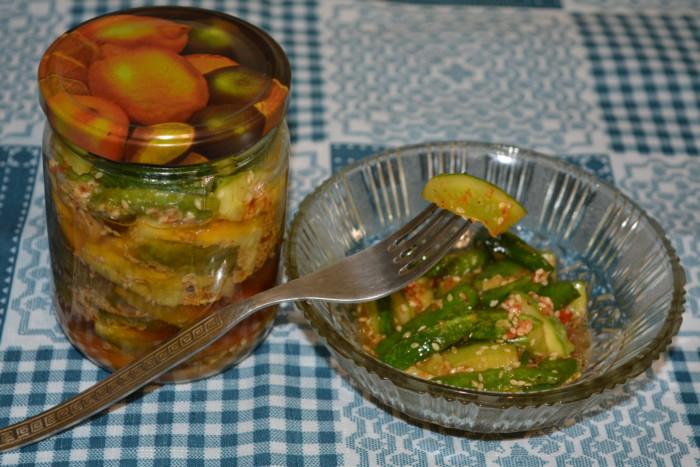 Жареные кабачки на зиму с помидорами и
