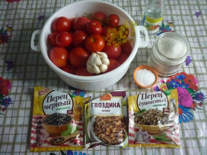 Маринованные помидоры с чесноком без стерилизации