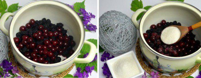 Компот из черной смородины и шелковицы - рецепт пошаговый с фото