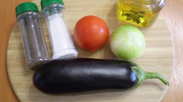 Закуска из баклажанов на зиму с помидорами и луком