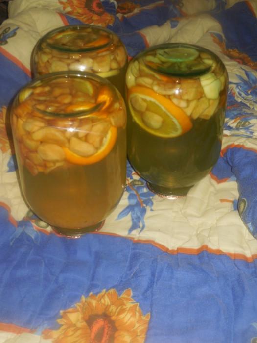 Компот из яблок, апельсина и лимона - домашняя фанта на зиму