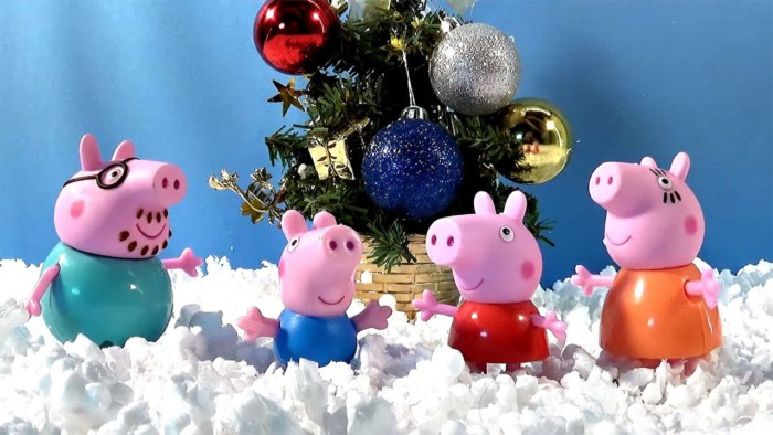 Красивые и смешные картинки свинок на Новый год 2019